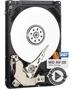 """WD5000LUCT-Western Digital WD AV-25 500GB 2.5"""" HDD SATA 5400RPM 16MB Cache 24x74 -40°C to 70°C 1M Hrs MTBF 3yrs Wty for DVR Set-Top Box Surveillance"""