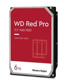 "WD6003FFBX-Western Digital WD Red Pro 6TB 3.5"" NAS HDD SATA3 7200RPM 256MB Cache 24x7 NASware 3.0 CMR Tech 5yrs wty"