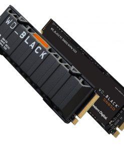 WDS200T1XHE-Western Digital WD Black SN850 2TB Gen4 NVMe SSD Heatsink - 7000MB/s 5100MB/s R/W 300TBW 1000K/710K IOPS 1.75M Hrs MTBF M.2 2280 PCIe4.0 5yrs Wty
