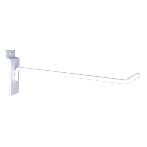 8W-DISSTANDHOOK-8ware Universal Hooks for Slat Wall Grooved Panel for Retail Cable Display Stand - 15cm x 3cm support 8W-DISPLAYSTAND1