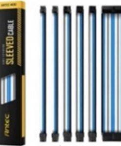 PSUSCB30-401-BG/WB-Antec PSU -  Sleeved Extension Cable Kit V2 - Blue / White / Black . 24PIN ATX