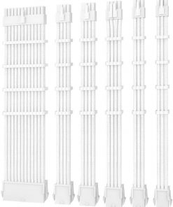 PSUSCW30-102-W-Antec PSU -  Sleeved Extension Cable Kit V2 - White. 24PIN ATX