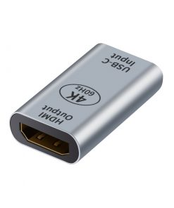 AT-USBCHDMI-FF-Astrotek USB-C to HDMI Female to Female Adapter support 4K@60Hz Aluminum shell Gold plating for Windows Android Mac OS