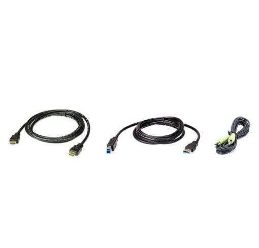 2L-7D02UHX3-Aten 2L-7D02UHX3 KVM Cable 1.8m with HDMI