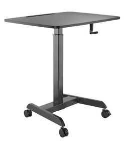 FWS08-4-B-Brateck Manual Height Adjustable Workstation with casters  - Black