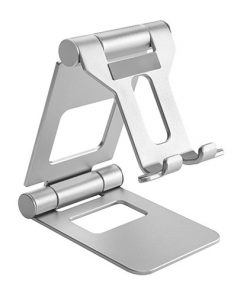 PHS05-2-SILVER-Brateck Aluminium Foldable Stand Holder for Phones and Tablets- Silver