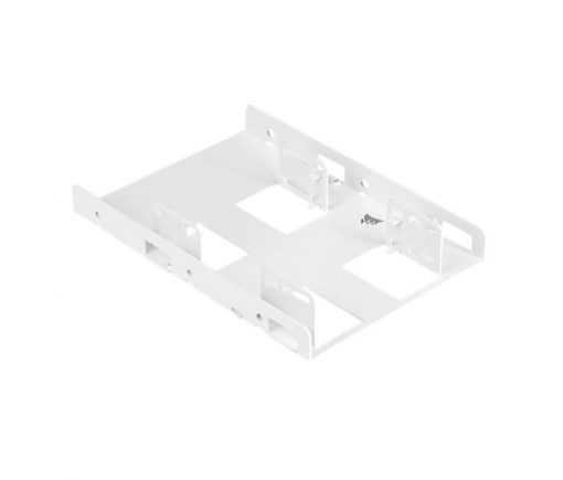 """CSSD-BRKT2W-Corsair Dual Corsair 2.5"""" to 3.5"""" HDD SSD Mounting Bracket Adapter Rack Dock Tray Hard Drive Bay for Desktop Computer PC Case White"""
