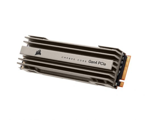 CSSD-F4000GBMP600COR-Corsair Force MP600 Core 4TB NVMe PCIex4 Gen4 SSD 4950/3950 MB/s 580/630K IOPS 900TBW 1.8M hrs MTBF with Heatsink AES 256-bit Encryption 5yrs wty