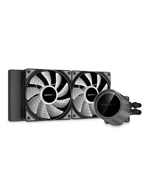 DP-GS-H12W-CSL240EX-AR-Deepcool Castle 240EX A-RGB CPU Liquid Cooler Intel LGA20XX/1151/1150/1155/1200/1366 AMD TRX4 TR4 AM4 AM3+ AM3 AM2+ AM2 FM2+ FM2 FM1