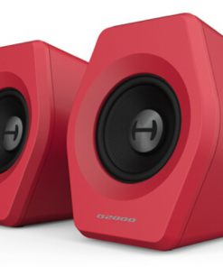 G2000 RED-Edifier G2000 Gaming 2.0 Speakers System - Bluetooth V4.2/ USB Sound Card/ AUX Input/RGB 12 Light Effects/ 16W RMS Power Red