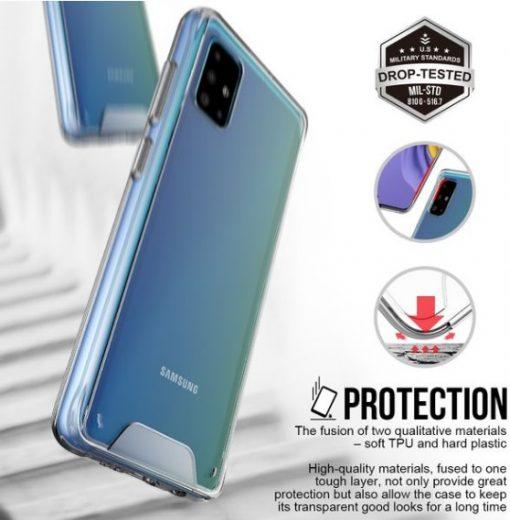 MPASGA51SCCLR-Space Clear Case for Samsung Galaxy A51 - Clear