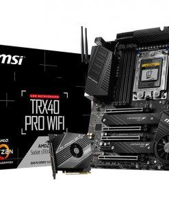 TRX40-PRO WIFI-MSI TRX40 PRO WIFI ATX MB TR4 AMD ThreadRipper 2 8xDDR4 5xPCIe 2xM.2 RAID 2xIntel GbE LAN WiIFi BT CF/SLI 13xUSB3.2 4xUSB2.0 8xSATA RGB (LS)