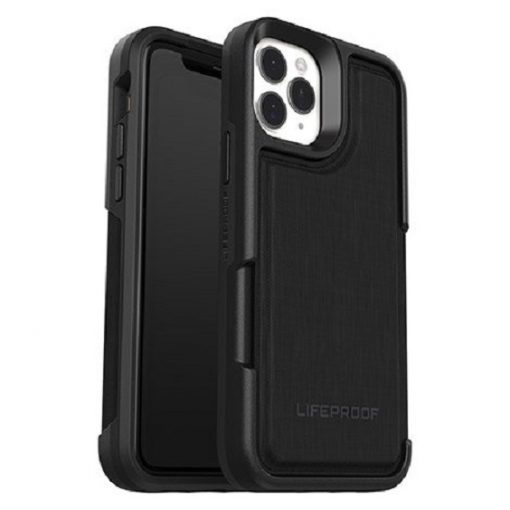 77-63457-LifeProof Flip Case for Apple iPhone 11 Pro (77-63457) - Dark Night (Black/Grey) - DropProof