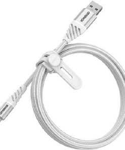 78-52640-OtterBox Lightning to USB-A Cable 1M - Premium - Cloud White - Rugged