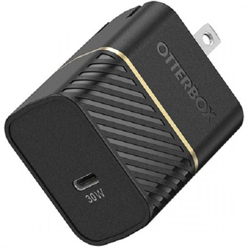 78-80485-OtterBox 30W USB-C GAN Fast Charge Wall Charger - Black Shimmer - Small  fast