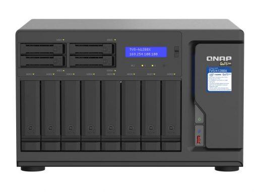 TVS-h1288X-W1250-QNAP 12 Bay NAS Intel® Xeon® W-1250 6-core 3.3 GHz 16G DDR4 2 x M.2 22110/2280 NVMe PCIe Gen3x4 slots 4x2.5GE 2 x10GBASE-T WOL 3 xUSB3.2 Hot-swappable