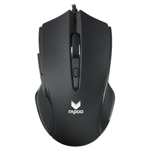 V20S-BK-RAPOO V20S LED Optical Gaming Mouse Black - Up to 3000dpi 16m Colour 5 Programmable Buttons
