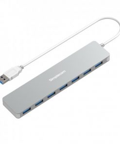 CH372-SIL-Simplecom CH372 Ultra Slim Aluminium 7 Port USB 3.0 Hub- Silver (LS)