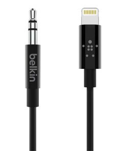 AV10172bt03-BLK-Belkin 3.5 mm Audio Cable With Lightning Connector - Black