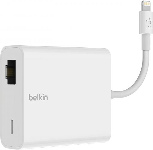 B2B165bt-Belkin Ethernet + Power Adapter with Lightning Connector
