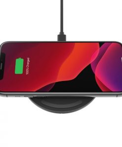 WIA002AUBK-Belkin Boost 15W Wireless Charging Pad with 24W QC 3.0 Wall Charger Black- Qi certified
