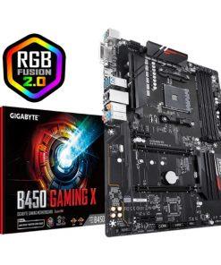 GA-B450-GAMING-X-Gigabyte B450 GAMING X AMD Ryzen Gen3 AM4 ATX Motherboard 4xDDR4 4xPCIE 1xM.2 DVI HDMI RAID GbE LAN 6xSATA 4xUSB3.1 CF (LS)