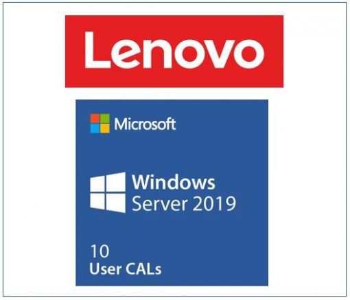 7S050029WW-LENOVO Microsoft Windows Server 2019 Client Access License (10 User) ST50 / ST250 / SR250 / ST550 / SR530 / SR550 / SR650 / SR630