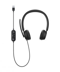 61D-00016-Microsoft Modern USB Headset - High-quality audio and video accessories certified for Microsoft Teams