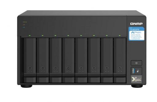 TS-832PX-4G-QNAP TS-832PX-4G 8 Bay NAS lpine AL324 ARM® Cortex-A57 quad-core 1.7GHz 4G DDR4 Hot-swappable 2x10GbE SFP+ 2x2.5GbE WOL 1xPCIe 3xUSB3.2 2YR WTY