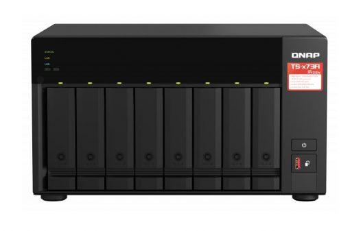 TS-873A-8G-QNAP TS-873AU-RP-4G 8 Bay NAS AMD Ryzen™ Embedded V1500B 4-core/8-thread 2.2 GHz 8G RAM 2xM.2 2280 PCIe 2x2.5GbE Hot-swappable WOL 3xUSB3.2 3YR WTY