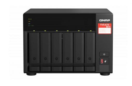 TVS-675-8G-QNAP TVS-675-8G 6 Bay NAS ZhaoXin KX-U6580 8-core 2.5GHz 8G DDR4 Hot-swappable 2xM.2 2280 PCIe Gen 3 x1 2 x2.5GbE WOL 2xPCle Gen 2xUSB3.2 3yr wty