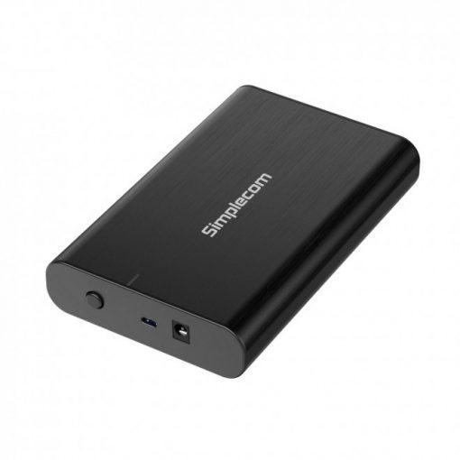 SE331-Simplecom SE331 Aluminium 3.5'' SATA to USB-C External Hard Drive Enclosure USB 3.2 Gen1 5Gbps