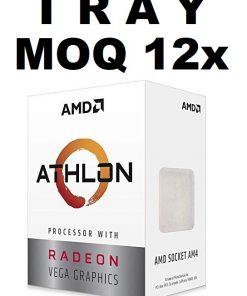 "YD3000C6M2OFB-(MOQ 12x If Not Installed On MBs) AMD Athlon 3000G ""TRAY"" 2 Core 4 Threads 3.5Ghz 5MB AM4 35W Radeon Vega 3 Graphics No Fan 1YW (AMDCPU) (TRAY-P)"