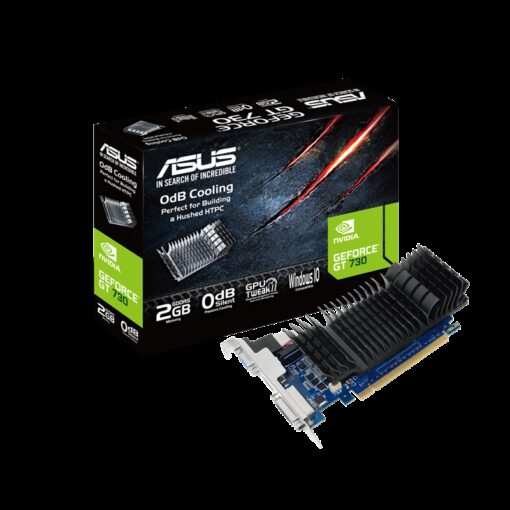 GT730-SL-2GD5-BRK-ASUS GT730-SL-2GD5-BRK GeForce GT 730 2GB GDDR5 Low Profile Graphics Card For Silent HTPC Build (With I/O Port Brackets)
