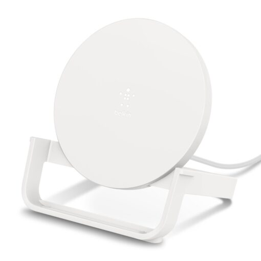 WIB001btWH-Belkin Boost Wireless Charger 10W Charging Stand White- Qi-enabled