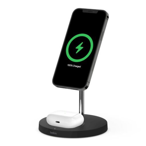 WIZ010auBK-Belkin BOOST ↑CHARGE ™PRO 2 in 1 Wireless Charger Stand with MagSafe Black