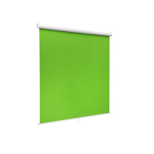 BGS02-106-Brateck106'' Wall-Mounted Green Screen Backdrop Viewing Size(WxH):180×200cm