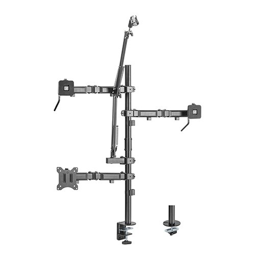 """MDS10-1-Brateck Single-Monitor All-in-One Studio Setup Desktop Mount Fix 17""""-32"""" Up to 9kg"""