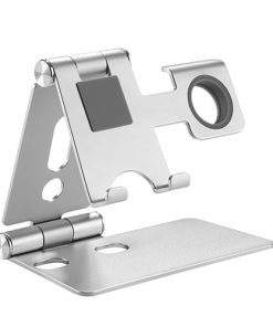 PHS01-2-Brateck 2 in 1 Foldable Cell Phone and Smartwatch Stand (≤6.5'')