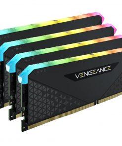CMG128GX4M4E3200C16-Corsair Vengeance RGB RS 128GB (4x32GB) DDR4 3200MHz C16 16-20-20-38 Black Heatspreader Desktop Gaming Memory
