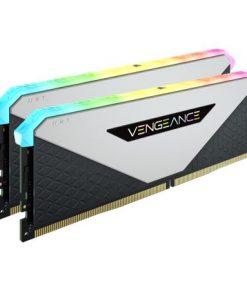CMN16GX4M2Z3200C16W-Corsair Vengeance RGB RT 16GB (2x8GB) DDR4 3200MHz C16 16-20-20-38 White Heatspreader Desktop Gaming Memory for AMD