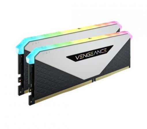 CMN32GX4M2Z3600C18W-Corsair Vengeance RGB RT 32GB (2x16GB) DDR4 3600MHz C18 18-22-22-42 White Heatspreader Desktop Gaming Memory for AMD
