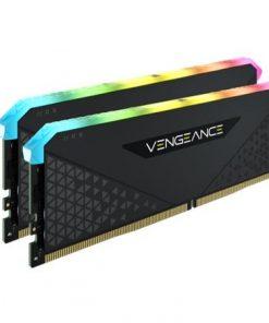 CMN32GX4M2Z4600C18-Corsair Vengeance RGB RT 32GB (2x16GB) DDR4 4600MHz C18 18-22-22-42 Black Heatspreader Desktop Gaming Memory for AMD