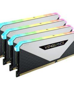 CMN64GX4M4Z3200C16W-Corsair Vengeance RGB RT 64GB (4x16GB) DDR4 3200MHz C16 16-20-20-38 White Heatspreader Desktop Gaming Memory for AMD Threadripper