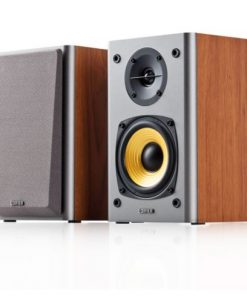 """R1000T4-BROWN-Edifier R1000T4 Ultra-Stylish Active Bookself Speaker - Home Entertainment Theatre - 4"""" Bass Driver Speakers BROWN"""