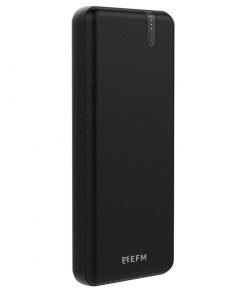 EFPPB2U900BLA-EFM 20000mAh Portable Power Bank-Black With Type C PD18W and QC3.0 Dual USB-A Ports