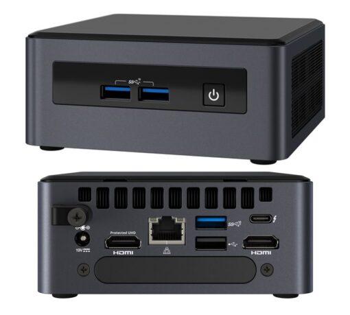 "BKNUC8V5PNH6-Intel NUC i5-8365U vPro 2xDDR4 SODIMM 2.5"" HDD M.2 SSD 24x7 RAID 3xDisplays 2xHDMI DP1.2 USB-C Thunderbolt 3 4xUSB GBLAN WiFi5 BT5 no AC Cord"