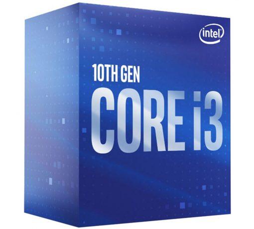BX8070110100-P-Intel Core i3-10100 CPU 3.6GHz (4.3GHz Turbo) LGA1200 10th Gen 4-Cores 8-Threads 6MB 65W UHD Graphic 630 Retail Box 3yrs Comet Lake