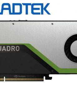 RTX4000-P-Leadtek nVidia Quadro RTX4000 PCIe Workstation Card 8GB GDDR6 3xDP1.4 5K 4x4096x2160@120Hz 1xVirtualLink 256-Bit 416GB/s 2304 Cuda 288 Tensor 36 RT