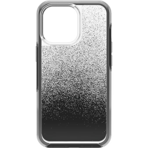 77-83492-OtterBox Apple  iPhone 13 Pro Symmetry Series Clear Antimicrobial Case -(77-83492)  Ombre Spray (Clear/Black)